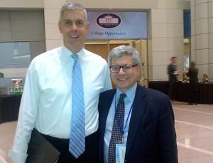 left: Arne Duncan; Secretary of Education | right: Gary Kaplan; JFYNetWorks Executive Director