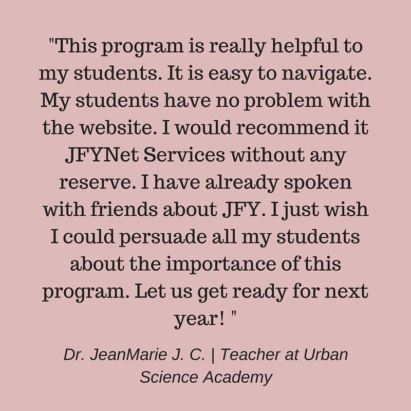 JFYNet College prep Accuplacer prep testimonial Dr. JeamMarie