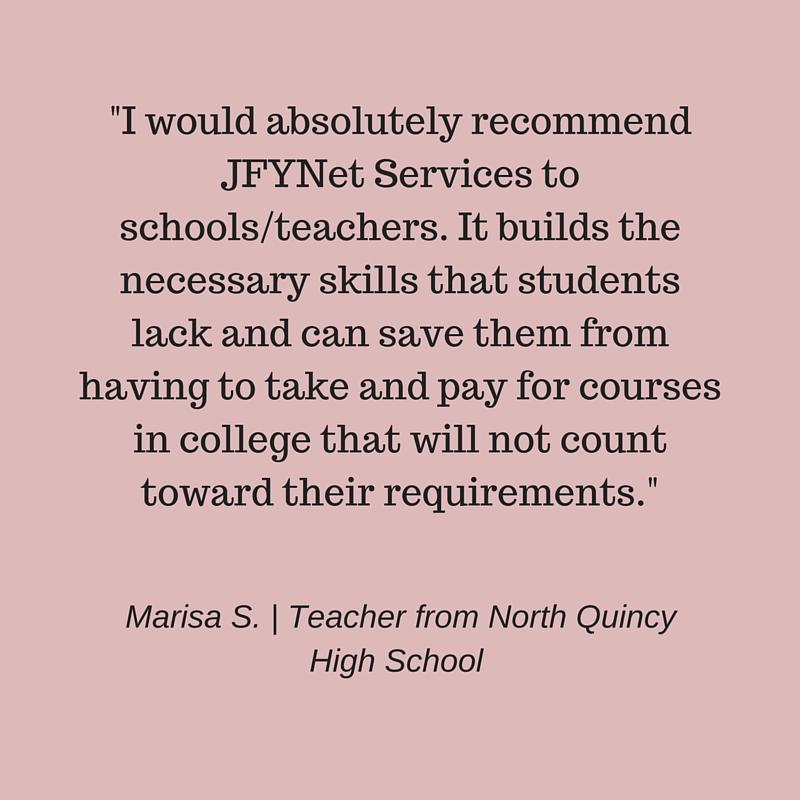 JFYNet Accuplacer Prep testimonial Marisa S.