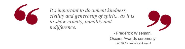 Frederick Wiseman at 2016 Governors Awards at Oscars